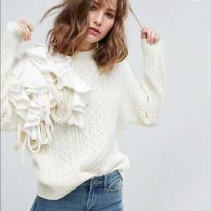 ASOS Sweater with Oversize Frill Detail